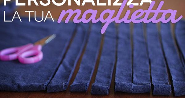 Personalizzare magliette: tagliare collo e maniche e modificare la scollatura