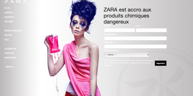 """Zara messa sotto accusa da Greenpeace: """"Moda tossica""""!"""