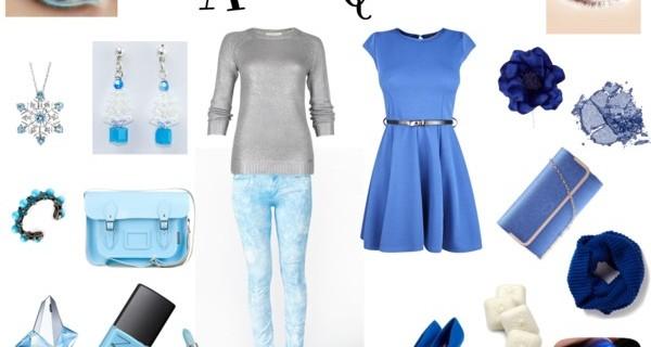 Tendenze moda inverno 2013: l'outfit in blu da regina dei ghiacci.