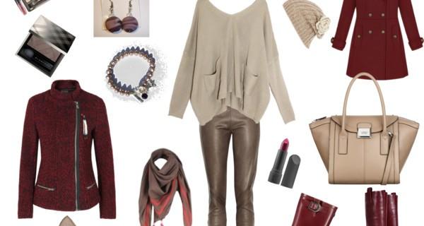 Tendenze moda autunno inverno 2012: taupe e rosso scuro