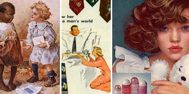 Anni 50… e sembra la preistoria! Pubblicità razziste, porno e sessiste