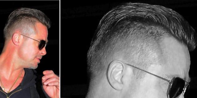 Foto taglio capelli brad pitt
