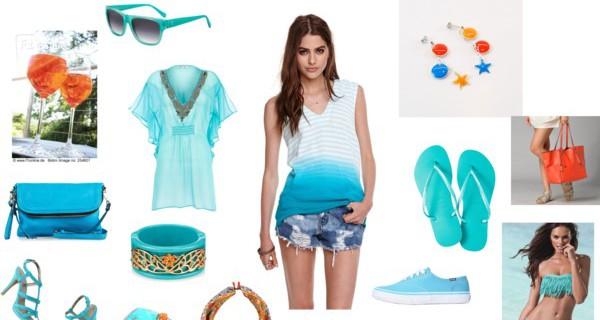 Outfit estivo in blu e arancio: come passare dalla spiaggia all'aperitivo facilmente!