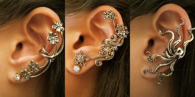 Ecco l'orecchino che si aggancia: The Ear Cuff