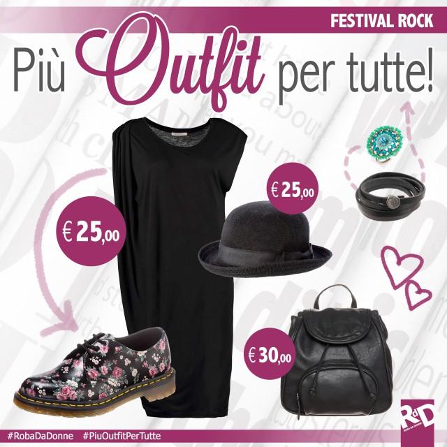 Più Outfit per tutte – festival rock