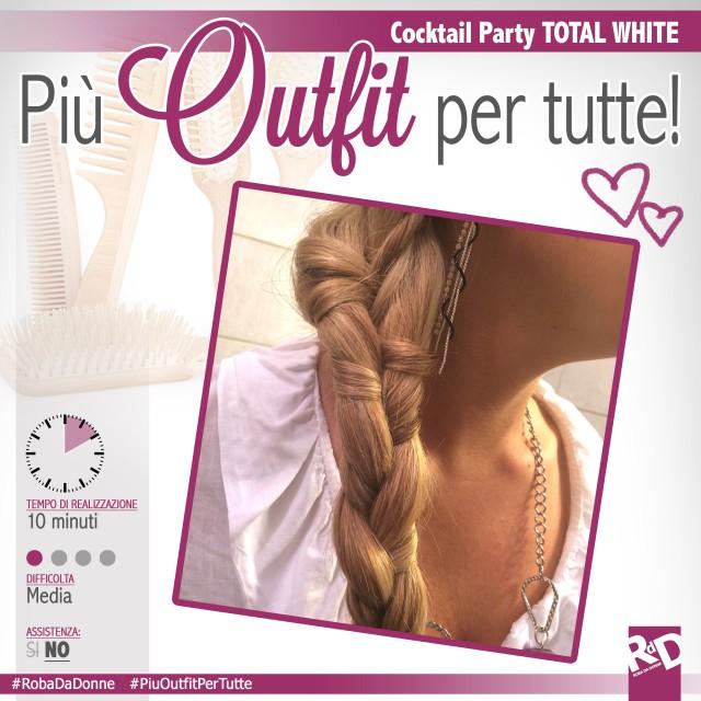 Una treccia particolare da abbinare al tuo look Total White