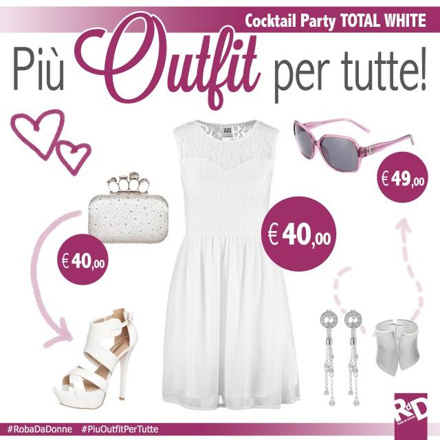 Più outfit per tutte: cocktail party in terrazza total white