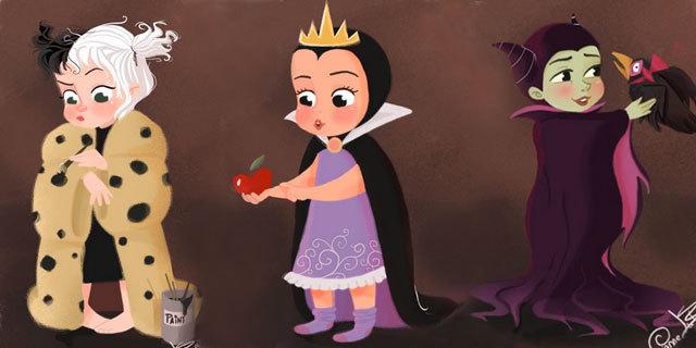 Ecco Com'Erano Le Cattive Disney Da Bambine [FOTO]