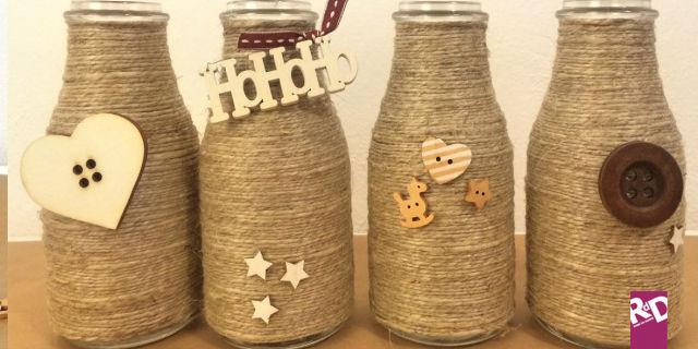 Idee natale fai da te un modo alternativo per riciclare - Damigiane decorate ...