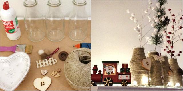 Idee Natale fai da te: un modo alternativo per riciclare le bottiglie