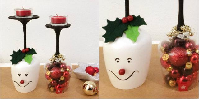 Lavoretti Di Natale Con Le Candele.Riciclo Creativo Come Creare Dei Portacandele Natalizi