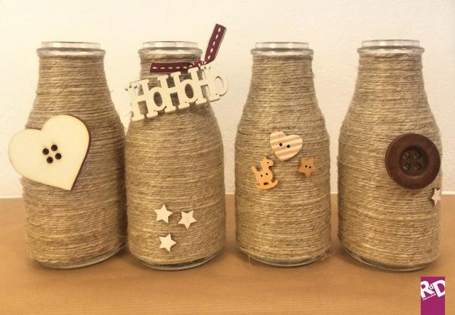 Idee natale fai da te un modo alternativo per riciclare le bottiglie roba da donne - Vasi decorati fai da te ...