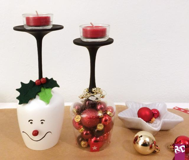 Riciclo creativo come creare dei portacandele natalizi unici ed originali roba da donne - Bicchieri decorati per natale ...