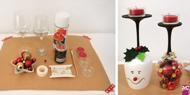 Riciclo creativo come creare dei portacandele natalizi unici ed originali roba da donne - Portacandele natalizi fai da te ...