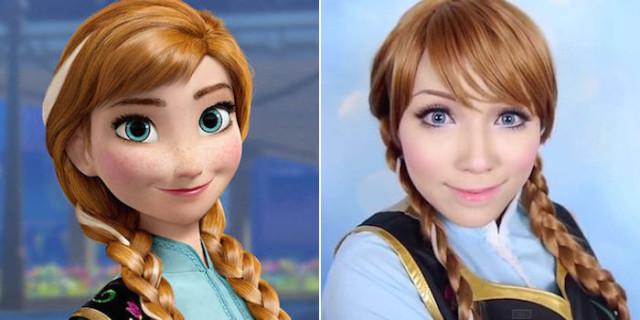 Si Trasforma in 15 diverse Principesse Disney grazie al Make-up