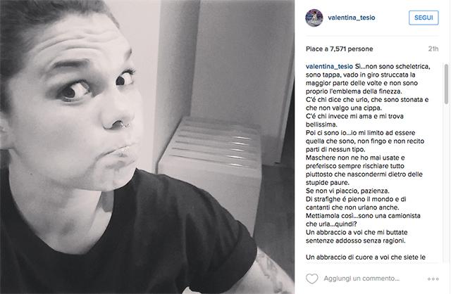 Emma Marrone in soccorso di Valentina Tesio