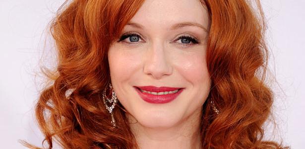 Trucco occhi azzurri e capelli rossi