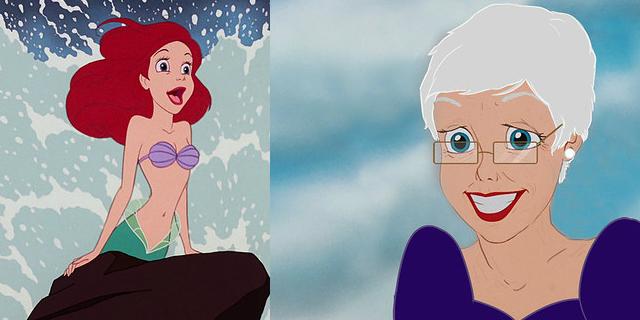 Le principesse Disney... con qualche anno in più