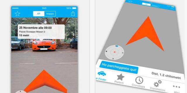 Augmented Car Finder per Apple