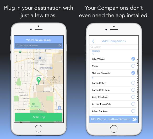 Companion App, localizzazione e selezione amici