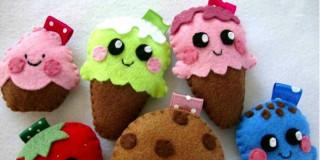 Creazioni in pannolenci: dolcetti