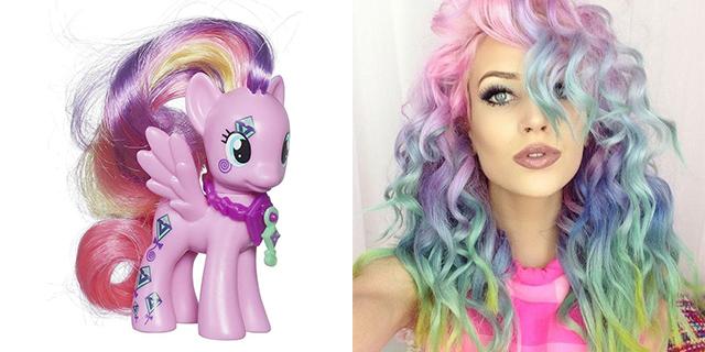 Come i My Little Pony: i capelli arcobaleno sono ancora una tendenza
