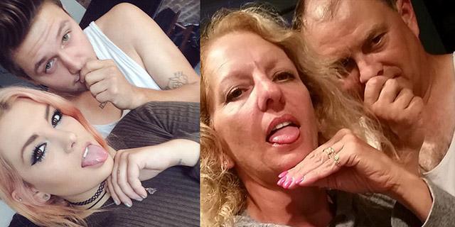 Genitori Imitano i Selfie della Figlia e del Fidanzato: lo Scherzo Diventa Virale