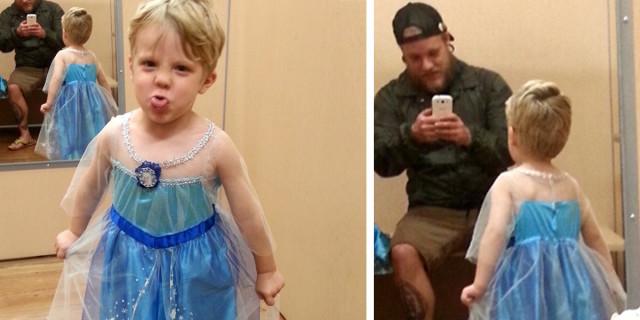 Il Bimbo vuole il Costume di Elsa per Halloween: ecco la Reazione del Papà