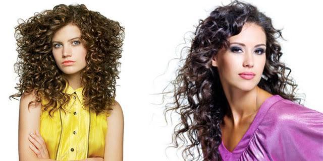 Permanente mossa leggera capelli lunghi