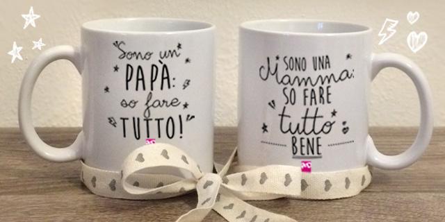 Le tazze accoppiate di Roba da Donne dedicate alla Mamma e al Papà