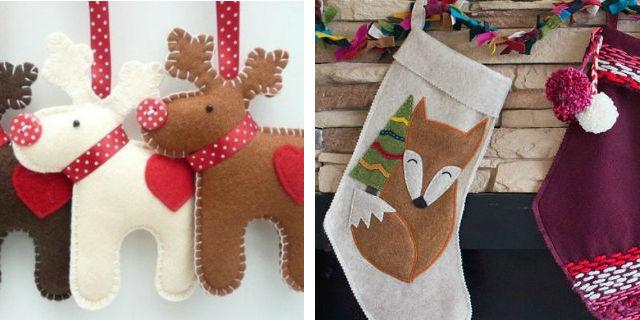 7 idee per addobbi e decorazioni natalizie fai da te - Decorazioni natalizie in feltro ...