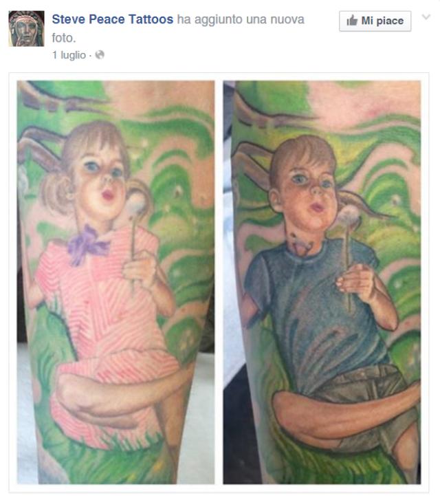 tatuaggio mamma per figlio transgender