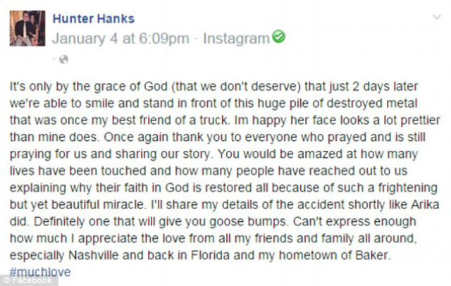 Fonte: Facebook @Hunter Hanks