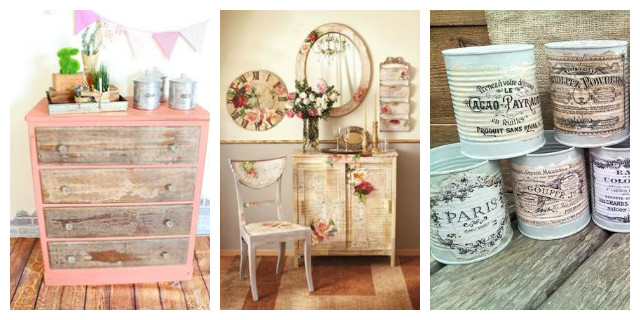 D coupage decorare con stile e originalit roba da donne - Decoupage mobili ...