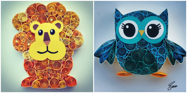 Quilling decorazioni animali