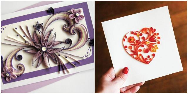 Biglietti Auguri Matrimonio Quilling : Quilling creazioni in filigrana di carta roba da donne