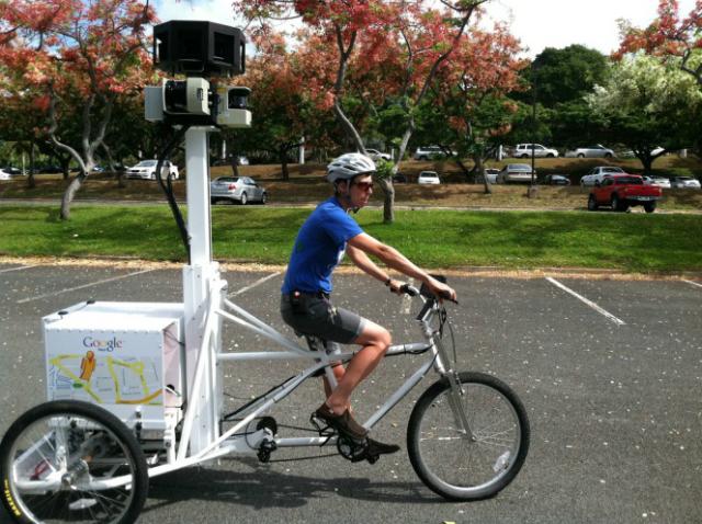 ciclista per google maps
