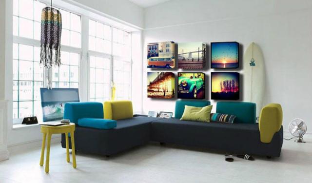 trasformare foto smartphone in una tela