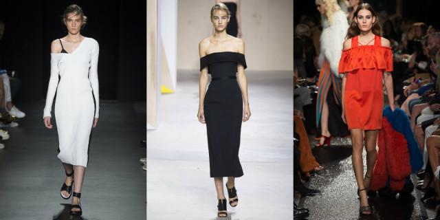 Spalle scoperte moda primavera estate 2016
