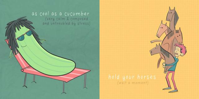 I 10 Modi di Dire Comunemente Usati in Inglese Spiegati con delle Illustrazioni