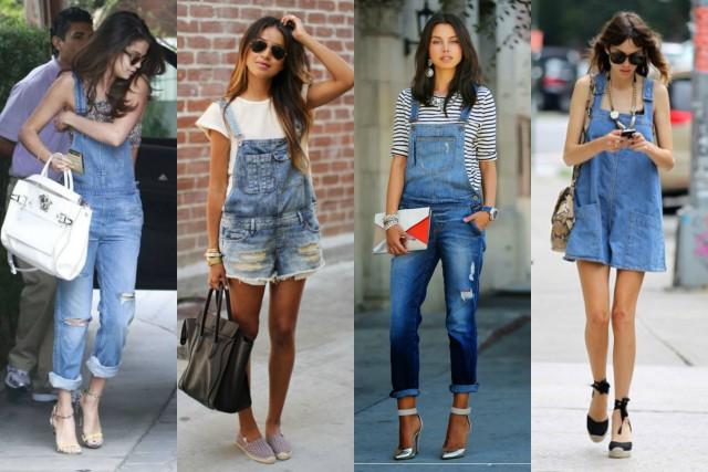 Salopette donna jeans