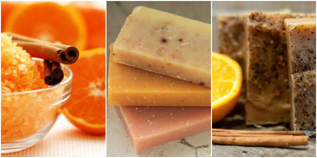 Sapone fatto in casa arancia e cannella