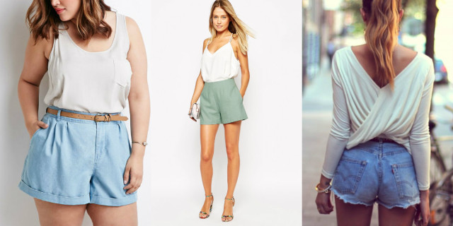Modelli di shorts a vita alta