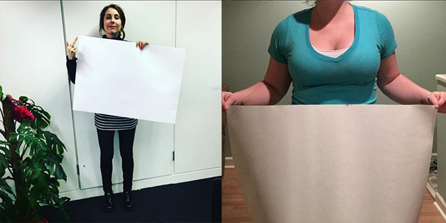 Essere spesse come un foglio di carta: l'A4 waist challenge