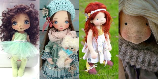 Bambole di pezza capelli perfetti