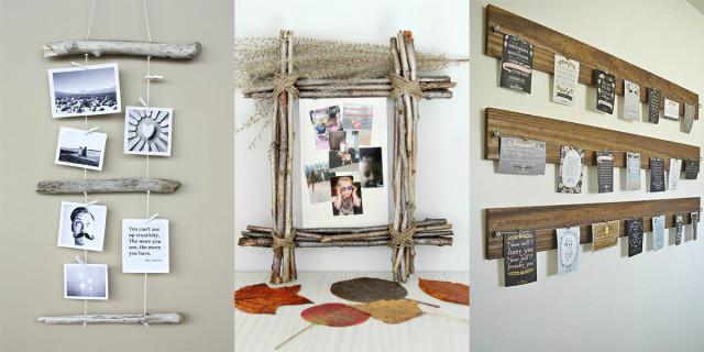 Cornici fai da te creazioni originali roba da donne - Parete in legno fai da te ...