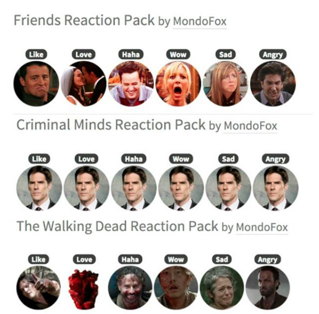 personalizzare Facebook reactions