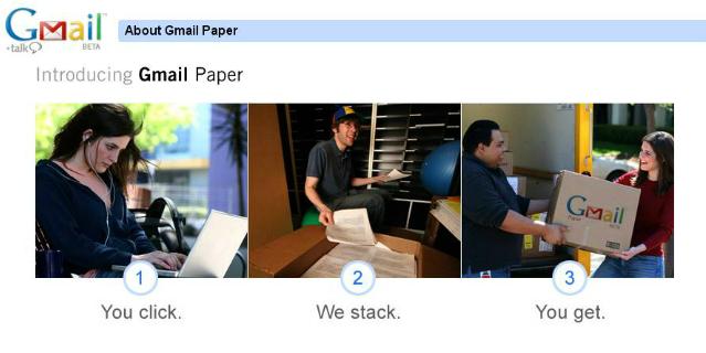 gmail paper pesce d'aprile