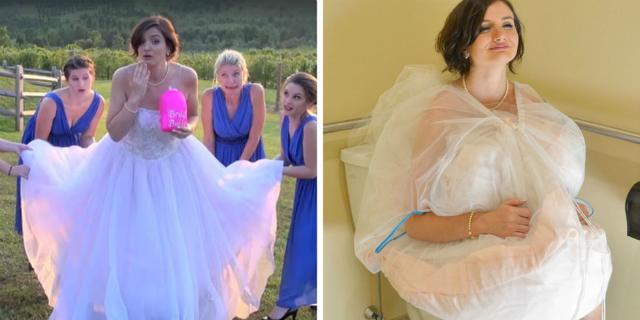 bridal buddy abito da sposa per andare in bagno