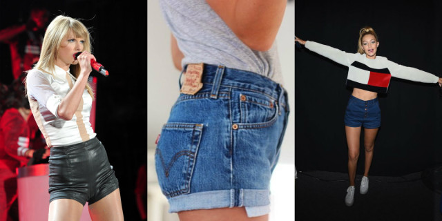 Shorts a vita alta di moda